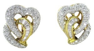 18KT YELLOW GOLD EARRINGS KARAT 148 DIAMOND 9.3 GRAMS FINE JEWELRY VALENTINES