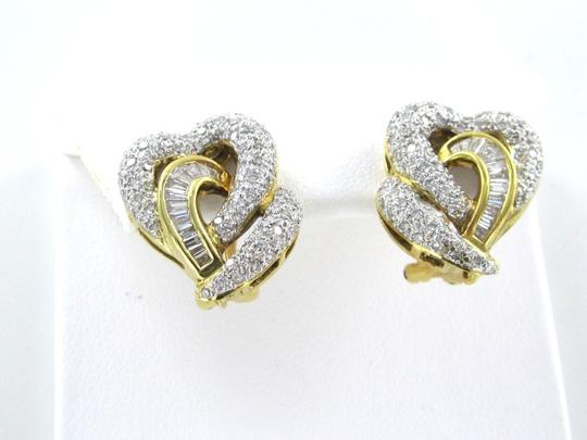 Other 18KT YELLOW GOLD EARRINGS KARAT 148 DIAMOND 9.3 GRAMS FINE JEWELRY VALENTINES