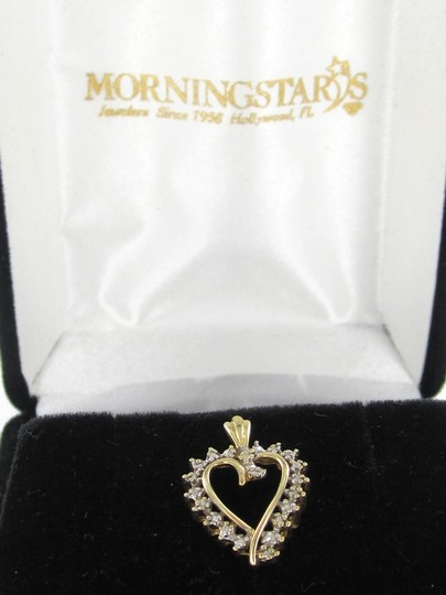 Other 10K YELLOW SOLID GOLD HEART PENDANT VALENTINES LOVE DIAMOND 1.3 GRAMS JEWELRY