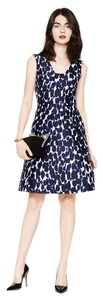 Kate Spade Leopard Print Fall Fit And Flare Dress