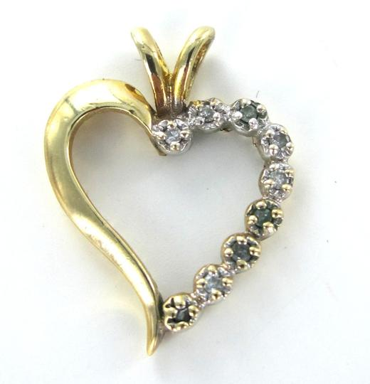 Other 14KT YELLOW SOLID GOLD HEART PENDANT VALENTINES DIAMOND LOVE 1.8 GRAMS JEWELRY