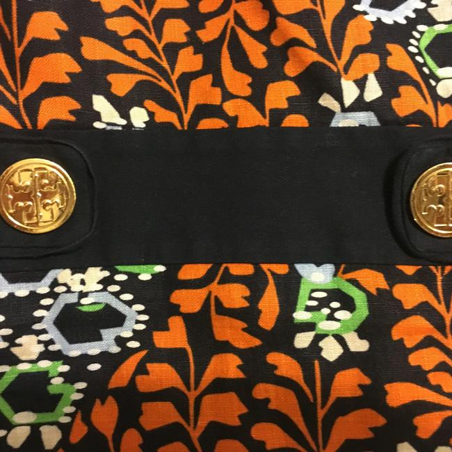 Tory Burch Gold Buttons Logo Linen Melanie Dress