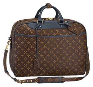 Louis Vuitton Brown And Blue Travel Bag