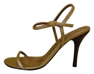 BCBGMAXAZRIA Leather Gold Sandals