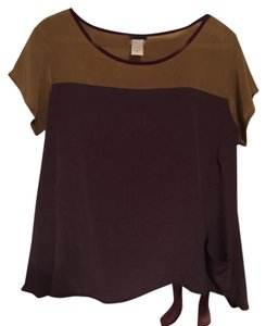 Anthropologie Top Green and purple