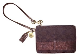 Coach Bronze Wristlet in bronze/gold