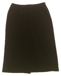 Moschino Vintage Formal Pencil Skirt Black And White stripes