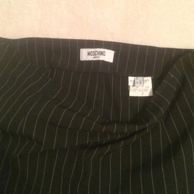 Moschino Vintage Formal Pencil Skirt Black And White stripes Image 1
