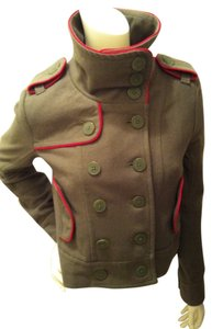 Hurley Army Green and Red Jacket