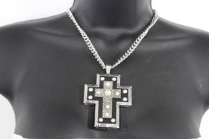 Alwaystyle4you Women Necklace Silver Metal Chains Cross Pendant Bead Charm Celtic