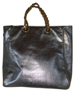 MZ Wallace Shoulder Leather Tote in Gold