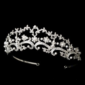 Beautiful Pearl & Rhinestone Wedding Bridal Tiara