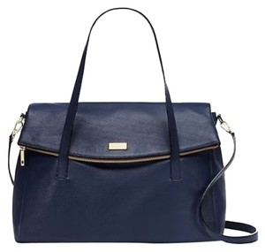 Kate Spade Leather Gold Hardware Chic French Blue Travel Bag
