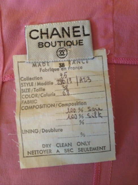 Chanel Clothing Silk Vintage Top Pink