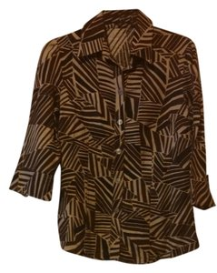East 5th Essentials Top Brown/Tan