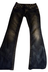 Miss Me Embellished Boot Cut Jeans-Dark Rinse