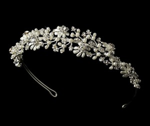 Romantic Silver Wedding Bridal Tiara