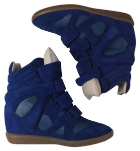 Isabel Marant Sneakers Cobalt Blue Wedges