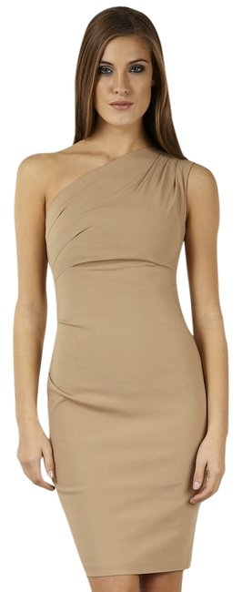 Preload https://img-static.tradesy.com/item/6794671/hybrid-apparel-camel-portia-one-shoulder-ruched-above-knee-cocktail-dress-size-4-s-0-1-650-650.jpg