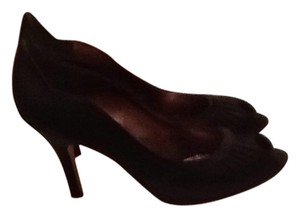 Nina Shoes Black satin Pumps