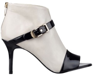 Marc Fisher Ivory/Black patent Boots