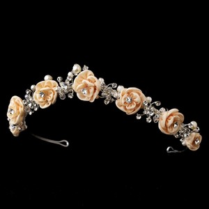 Rose & Crystal Wedding Bridal Tiara