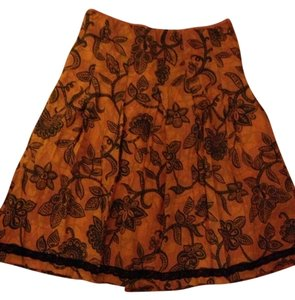 H&M Skirt Orange & Black
