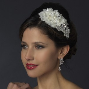 Chic Ivory Applique Wedding Bridal Headband