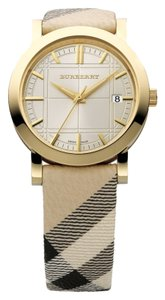 Burberry nova check fabric strap watch