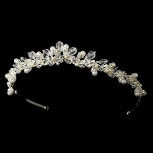 Classic Swarovski Crystal And Pearl Wedding Bridal Tiara