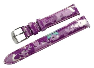Michele MICHELE 18mm Watch Band Strap Butterfly Patent Leather MS18AA350884