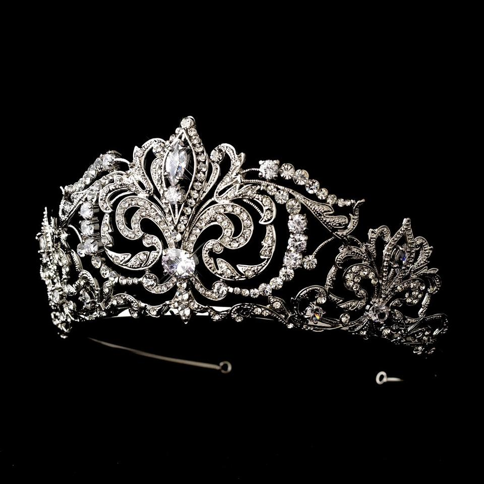 Fairytale Bridal Tiara Royal Princess Antique Crystal Wedding Bridal Tiara