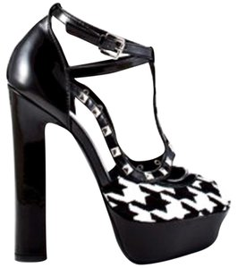 bebe Black, White Platforms