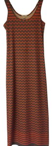 Grey/orange Maxi Dress by Bar III
