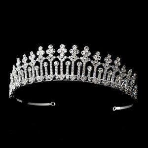 Magnificent Rhinestone Covered Pillar Wedding Bridal Tiara