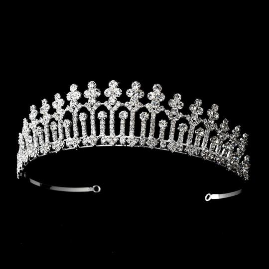 Silver Magnificent Rhinestone Covered Pillar Tiara