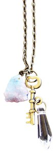 NWT Cotton Candy Crystal Key Charm Necklace