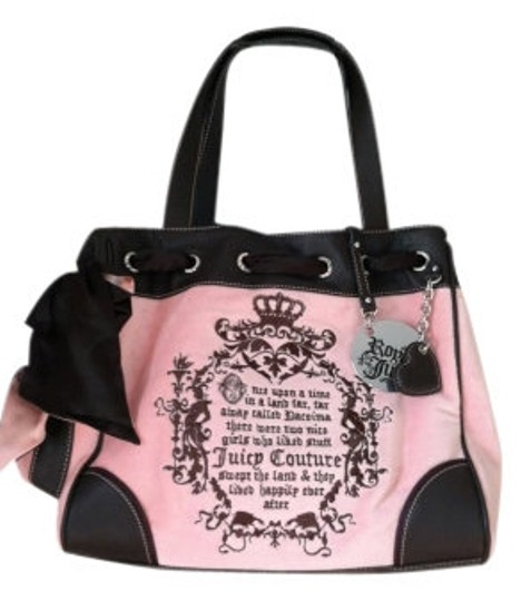 Preload https://img-static.tradesy.com/item/6799/juicy-couture-nardels-styleyhru1122-pink-chocolate-trim-velour-with-leather-tote-0-0-540-540.jpg