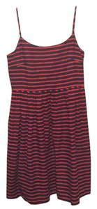 J.Crew short dress Navy/Red on Tradesy