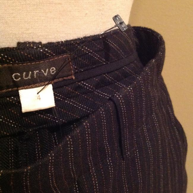Other Pinstripe Size 4 Flare Pants Image 3