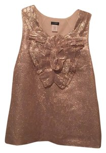 J.Crew Top Gold metallic
