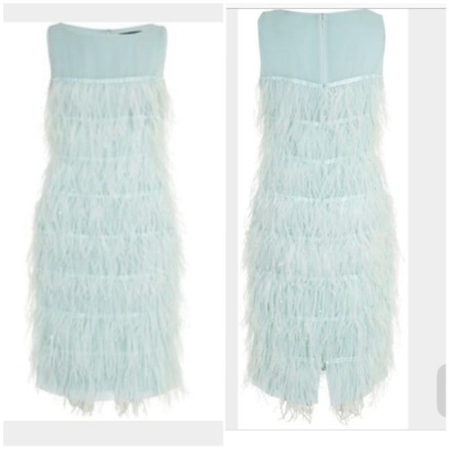 St. John Feather Blue Dress Image 1