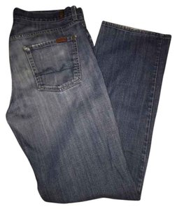 7 For All Mankind Distressed Mens Seven Mens Mens Relaxed Fit Jeans-Distressed