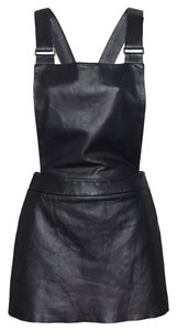 Love leather short dress Black Overall Jumper Intermix on Tradesy