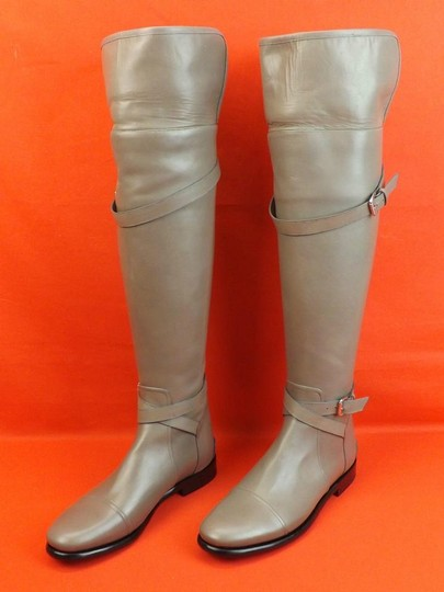 Balenciaga New In Box Us Size9 Otk Zip Gray Boots Image 10