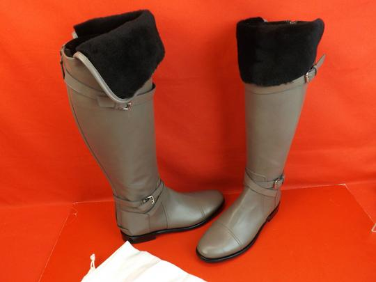 Balenciaga New In Box Us Size9 Otk Zip Gray Boots Image 5
