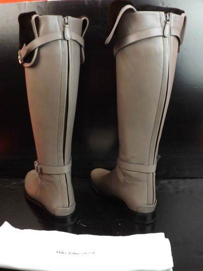 Balenciaga New In Box Us Size9 Otk Zip Gray Boots Image 7