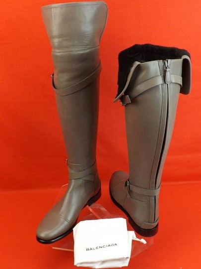 Balenciaga New In Box Us Size9 Otk Zip Gray Boots Image 8