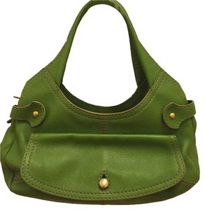 Tod's Satchel in bright green