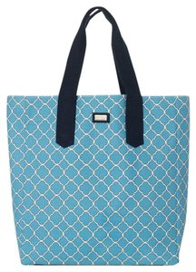 Ame & Lulu Beach New Tote in Sky Blue/Vanilla